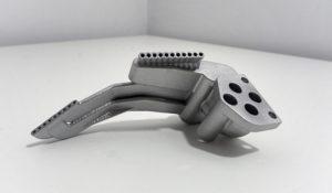 Dysza wydrukowana w technice DMLS - selektywne spiekanie metalu (aluminium)