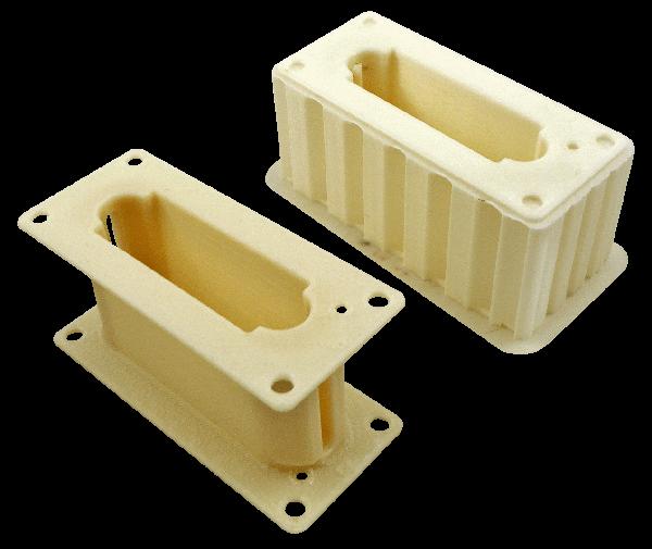 Wydruki 3D na zamówienie wykonane z rozdzielczością 0,178 mm z materiału PC-ABS.