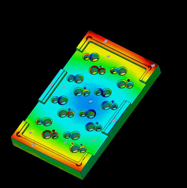 Skanowanie 3D - mapa odchyłek